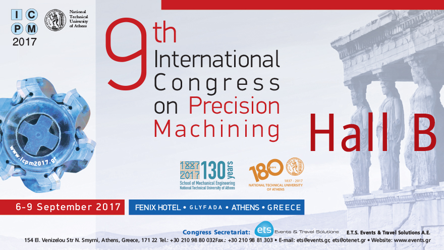 9th International Congress on Precision Machining-Hall B