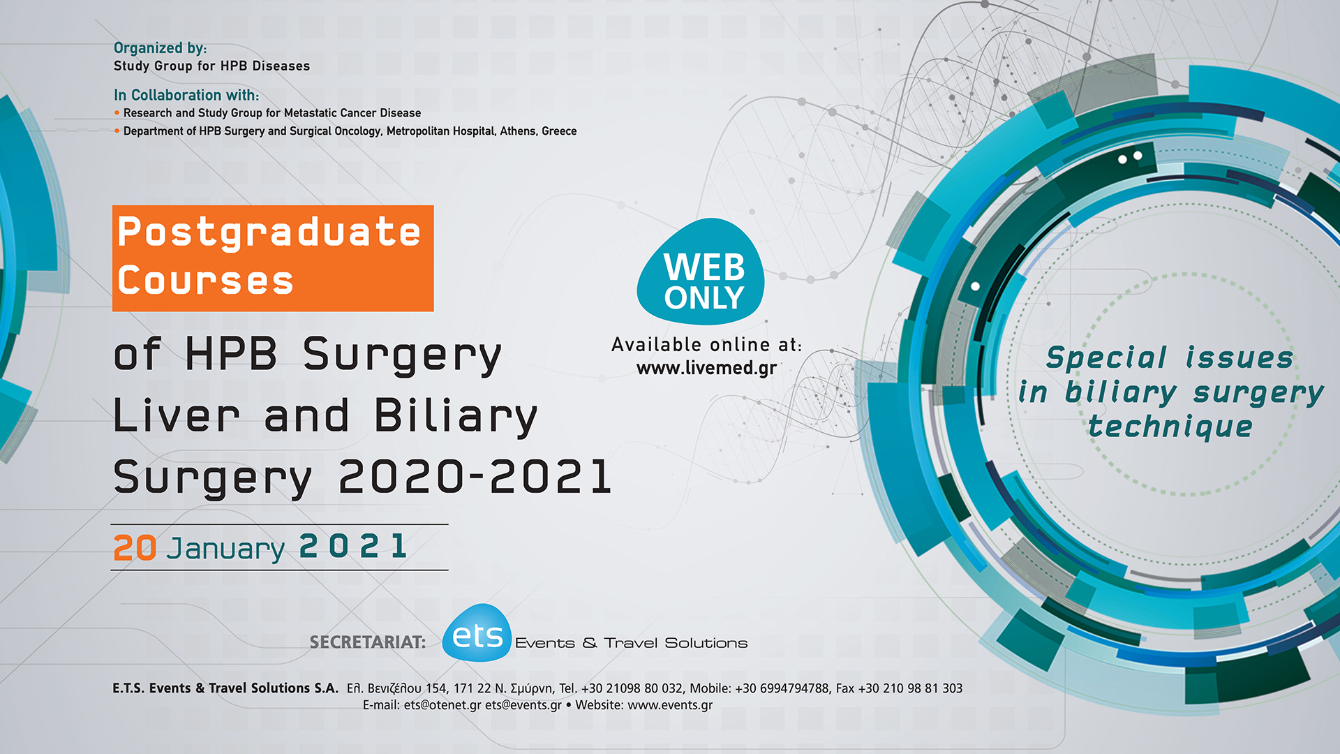 Postgraduate Courses of HPB Surgery Liver and Biliary Surgery 2020-2021 - Special Issues on biliary surgery technique